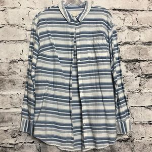 A New Day Striped Cotton Button Down. XXL